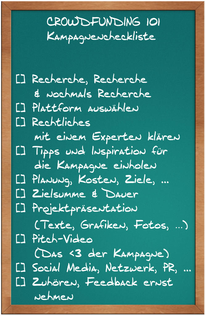 Crowdfunding 101 - Kampagnencheckliste