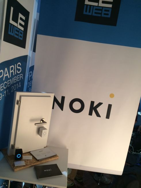 Our booth at the Le Web conference