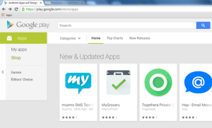 Yeah, mysms wird im Google Play Store gefeatured