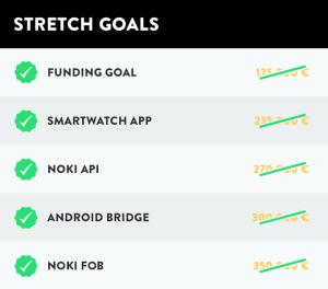 noki stretch goals